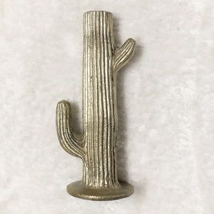 Cactus Candle Stick Cacti Gold Home Decor